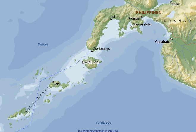 Sulu Sea Map